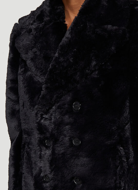 480ad8d887f Saint Laurent Faux Fur Jacket in Black | LN-CC