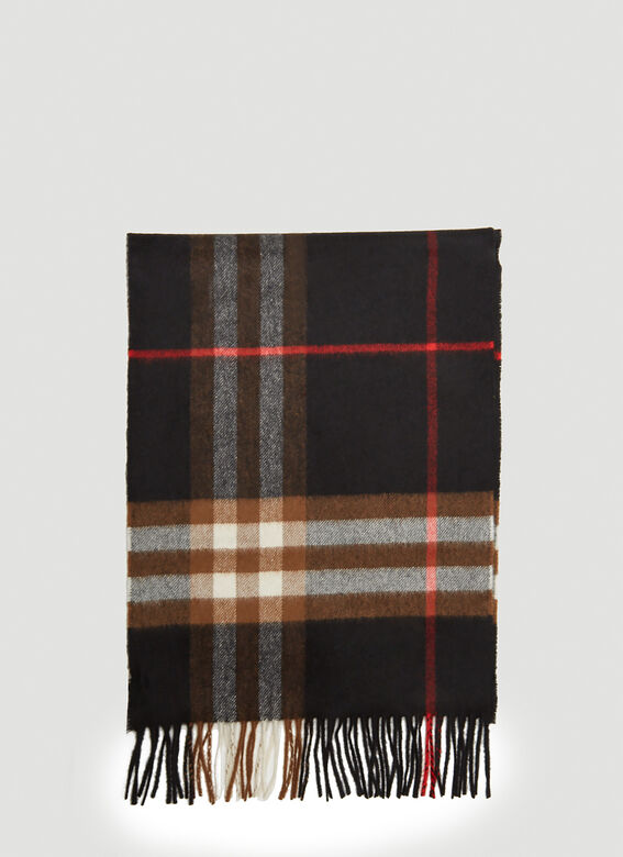 Burberry Check Scarf in Black