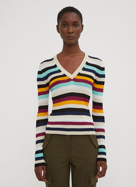 Altuzarra Burroughs Striped V-Neck Sweater