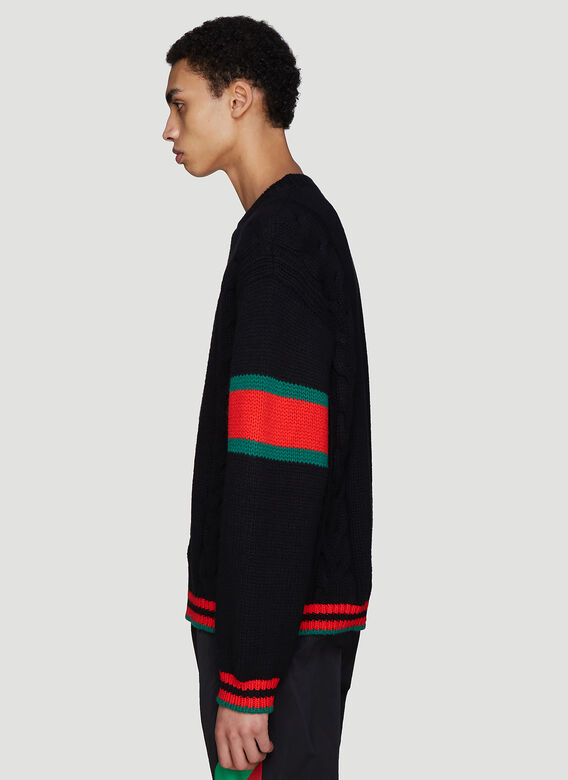 Gucci Oversized Cable Knit Sweater