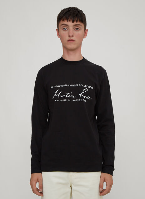 Martine Rose Long Sleeve Logo T-Shirt