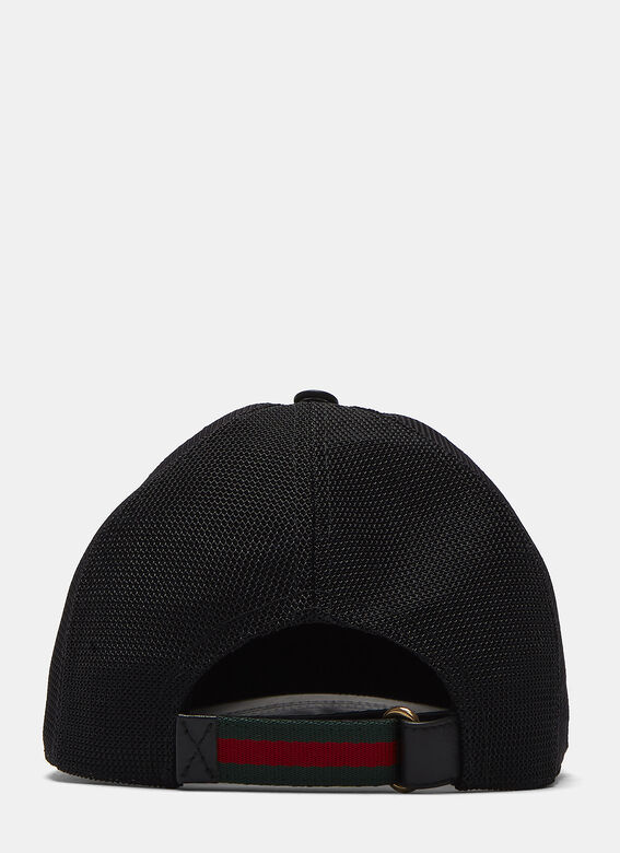 79d92f0c168 Gucci Leather Embossed Tiger Cap
