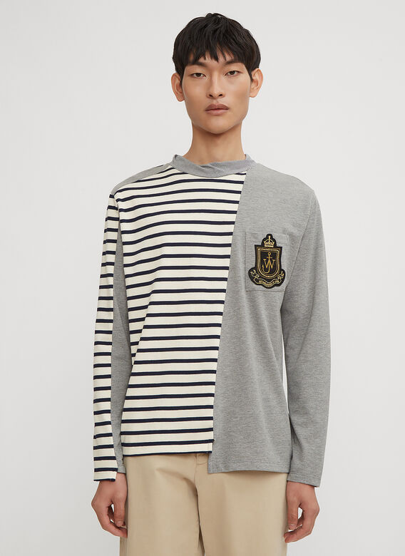 JW Anderson Panelled Breton Long Sleeve T-Shirt