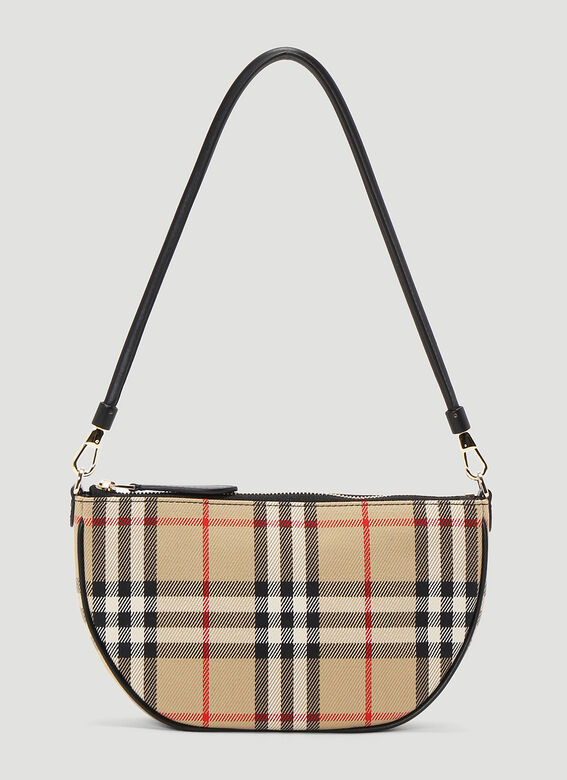 Burberry Olympia Vintage-Check Pouch Bag 1