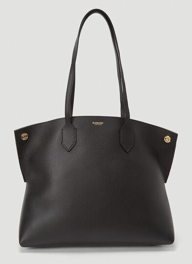 버버리 Burberry Society Medium Tote Bag in Black