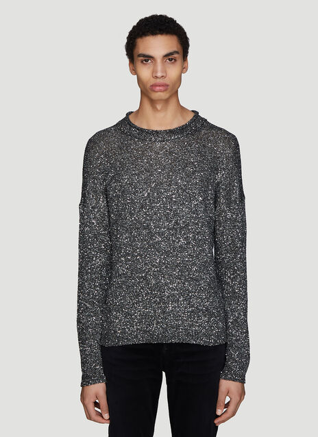 Saint laurent Glitter Knit Sweater