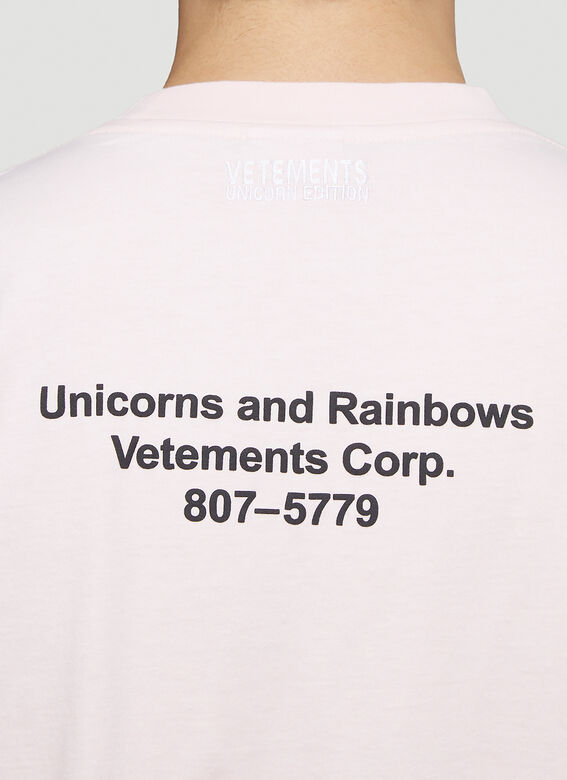 Vetements MAGIC UNICORN T-SHIRT 5
