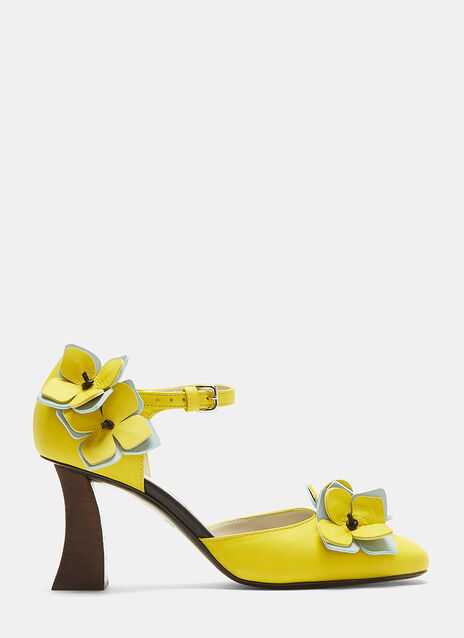 Marni Floral Mary Jane Heels