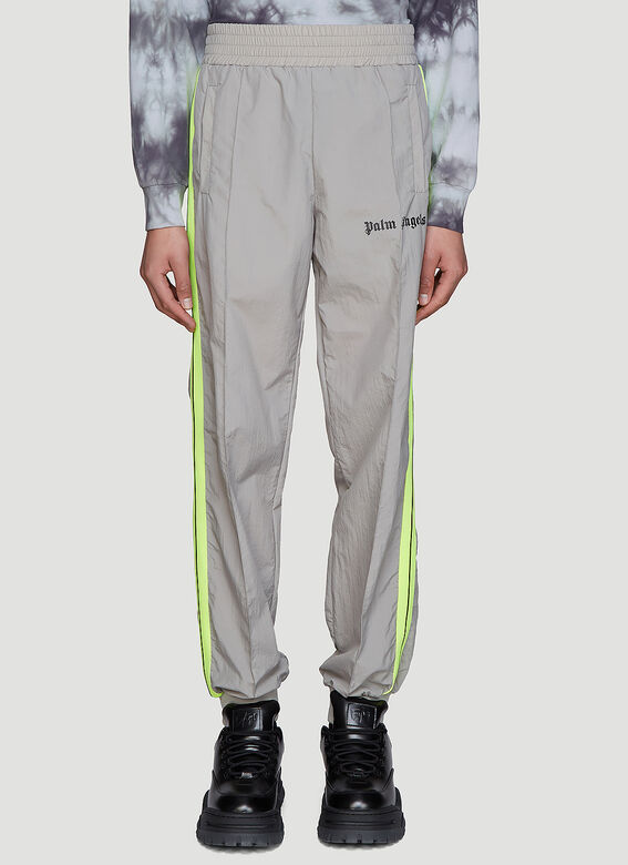 c089a5a46d632e Palm Angels Loose-Fit Nylon Track Pants in Grey | LN-CC
