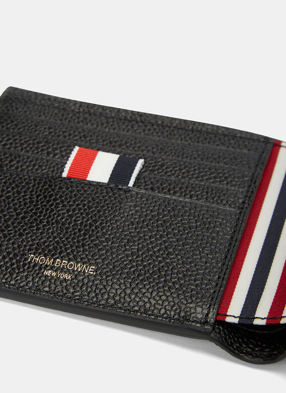 Thom Browne Billfold Pebbled Leather Wallet