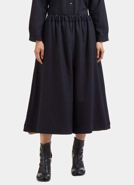 Marvielab Oversized Cropped Wide Double Layered Pants