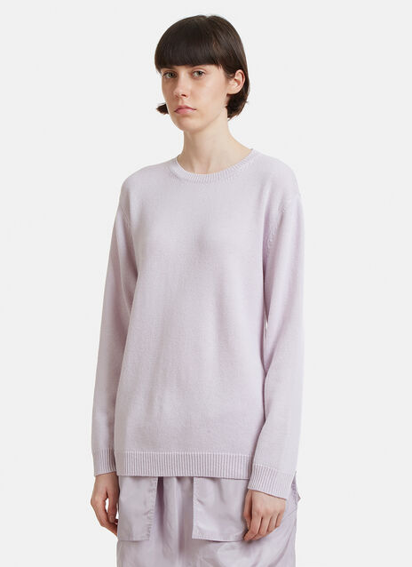 Valentino Silk Back Step Hem Knit Sweater
