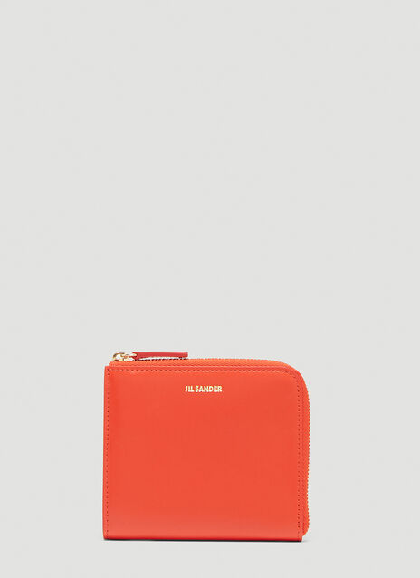 Jil Sander Zip-Around Leather Wallet