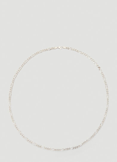 Tom Wood Thick Figaro Chain Necklace in Silver