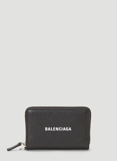 발렌시아가 Balenciaga Cash Chain Wallet in Black