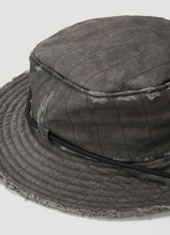 A-COLD-WALL* X Diesel Red Tag Denim Overlay Bucket Hat 5