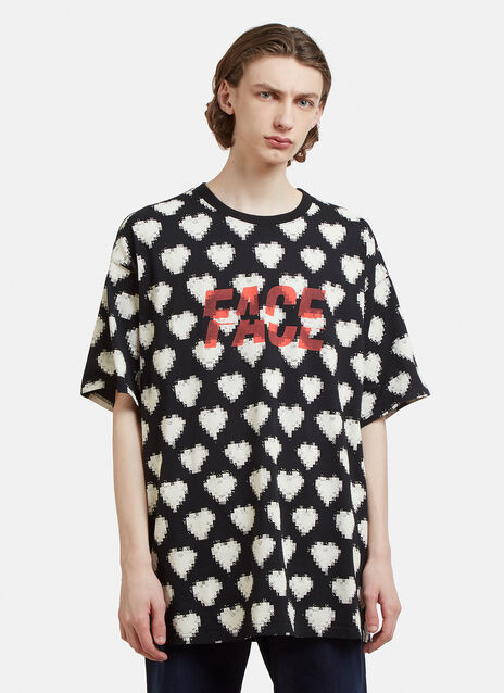 Facetasm Heart Print T-Shirt