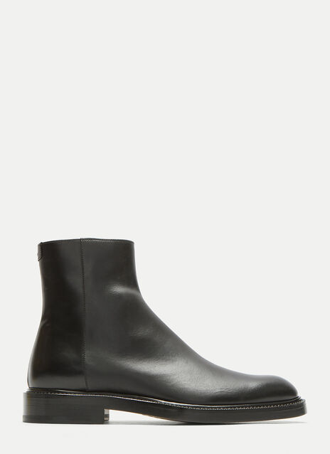 Zip-Up Leather Chelsea Boots
