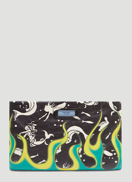 Prada Séverine Print Leather Pouch