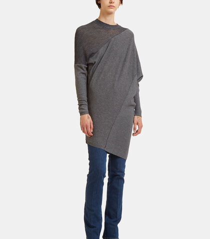 Oversized Asymmetric Sweater Dress