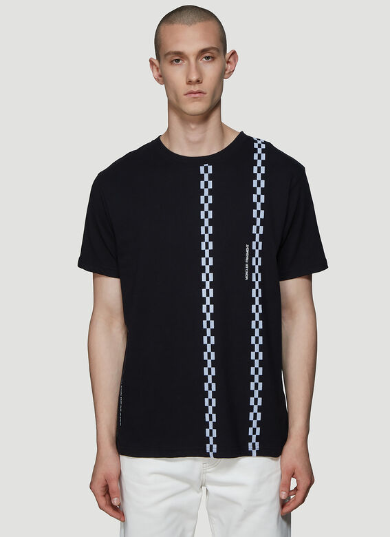 Moncler Contrast Print T-Shirt In Black