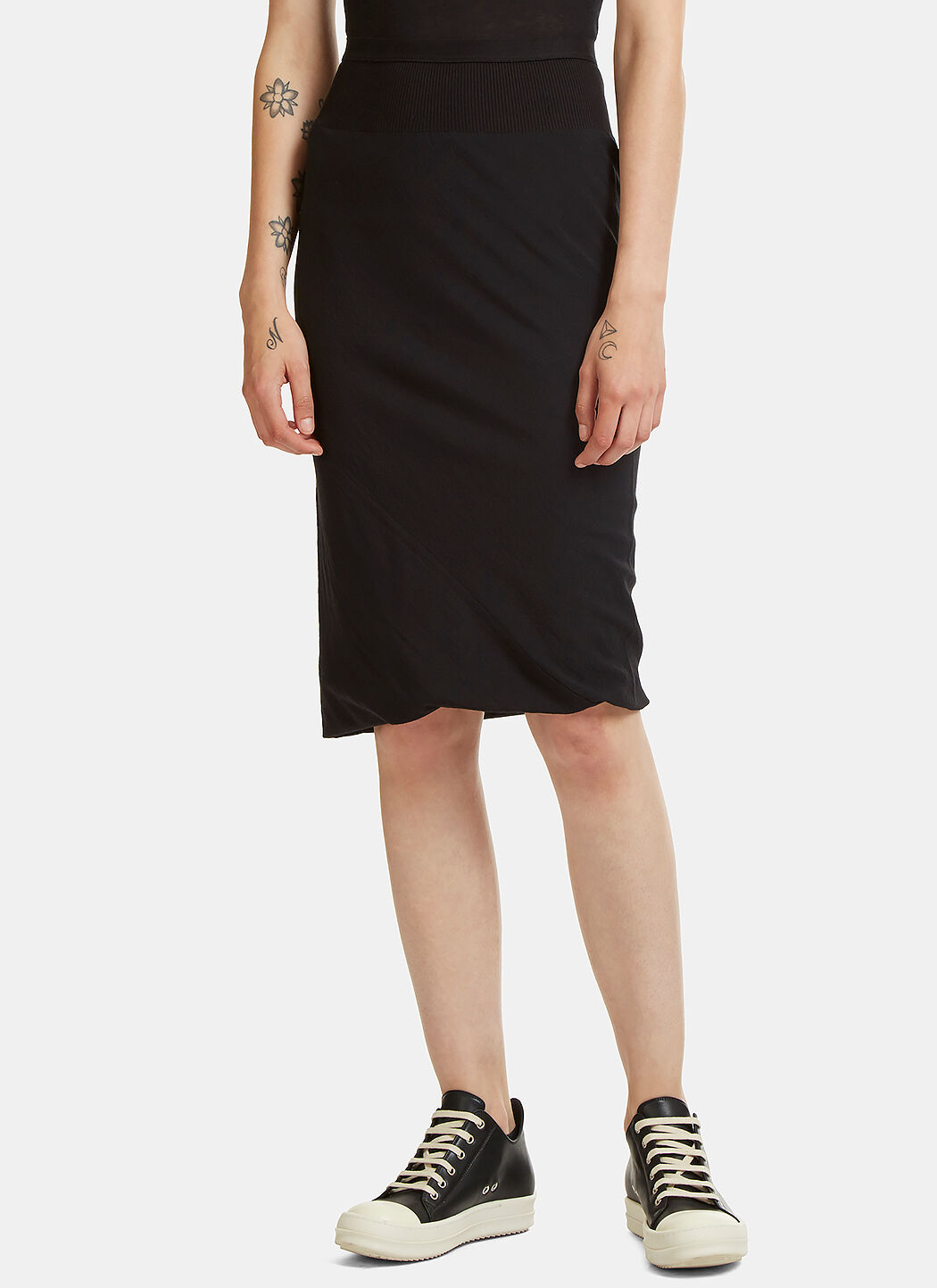 Clearance Wiki Asymmetric Seam Ribbed Band Skirt Rick Owens Huge Surprise Cheap Online Limited Cheap View 4vAg8cb