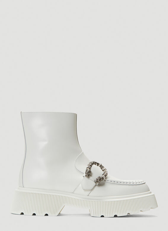 Gucci Hunder Boots in White