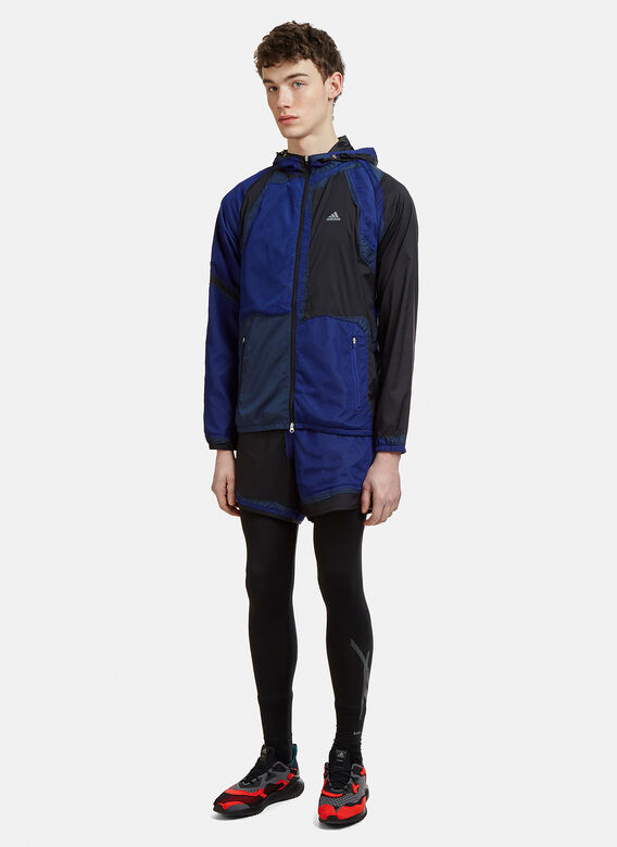 Adidas By Kolor Hooded Patchwork Decon Wind Jacket