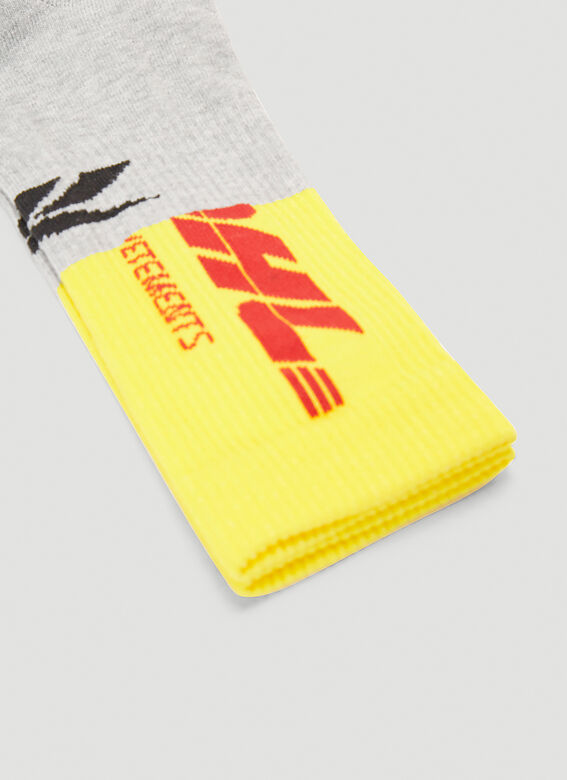 Vetements DHL CUT-UP LOGO SOCKS 3