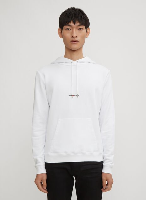 Saint Laurent Logo Print Hooded Sweater