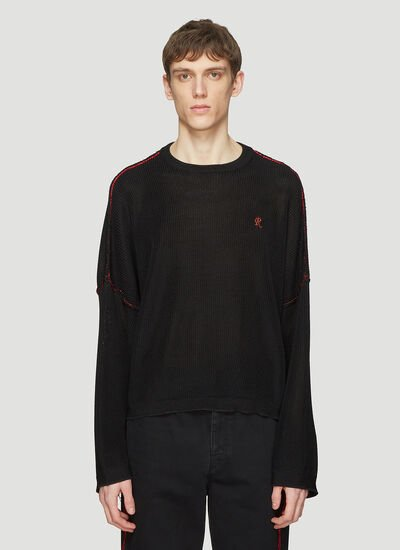 Raf Simons Big Sleeved Cropped Sweater