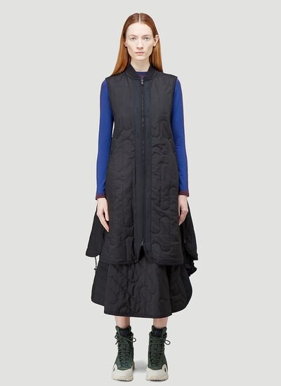 Y-3 CH2 Cloud Quilted Gilet Dress