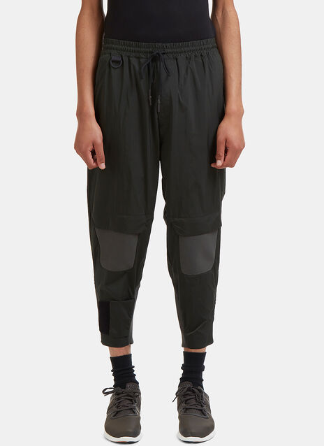 Ribbed Panel Technical Nylon Pants