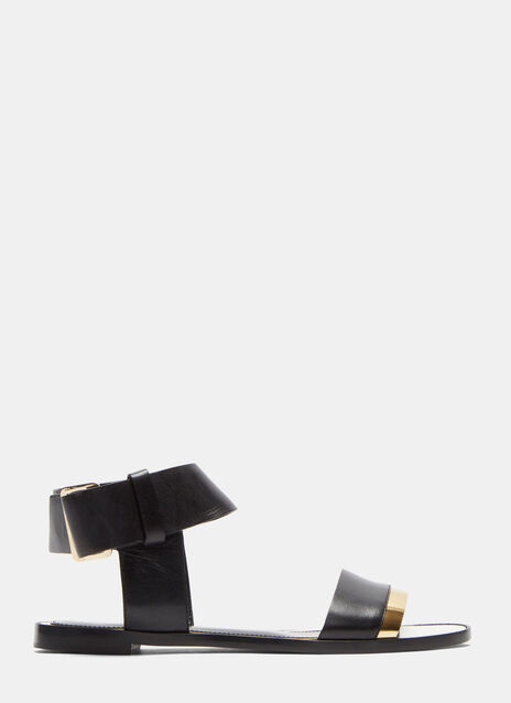 Loop Strapped Mirror Trimmed Sandals