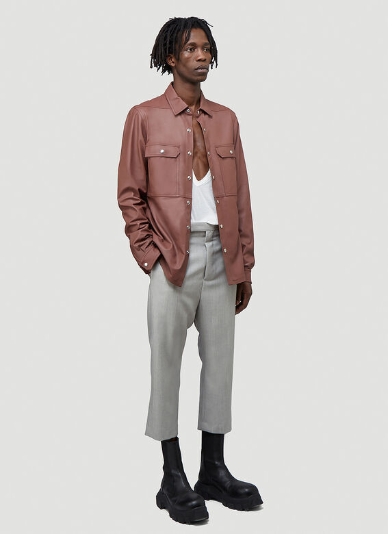 Rick Owens OUTER SHIRT LEATHER 2