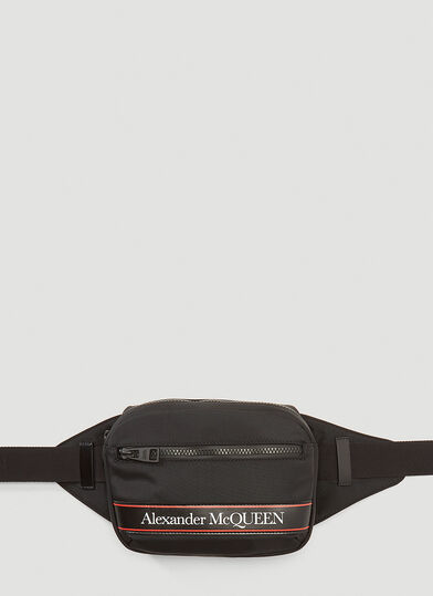 알렉산더 맥퀸 Alexander McQueen Technical Belt Bag in Black