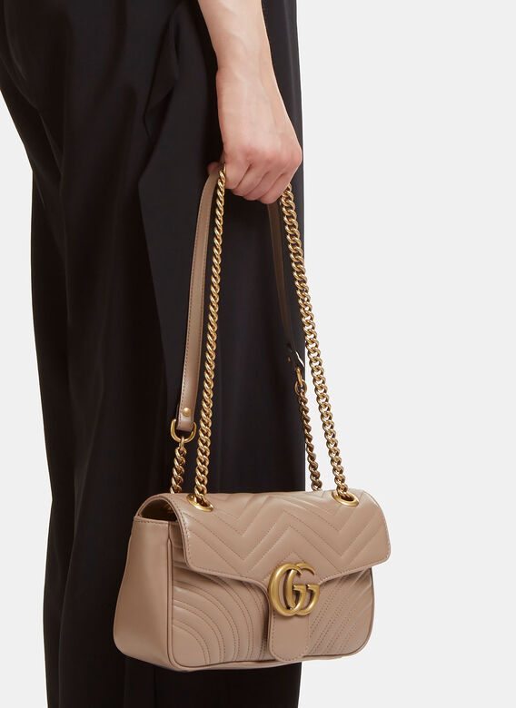 039b05192a0860 Gucci GG Marmont Matelassé Small Chain Shoulder Bag. click to zoom