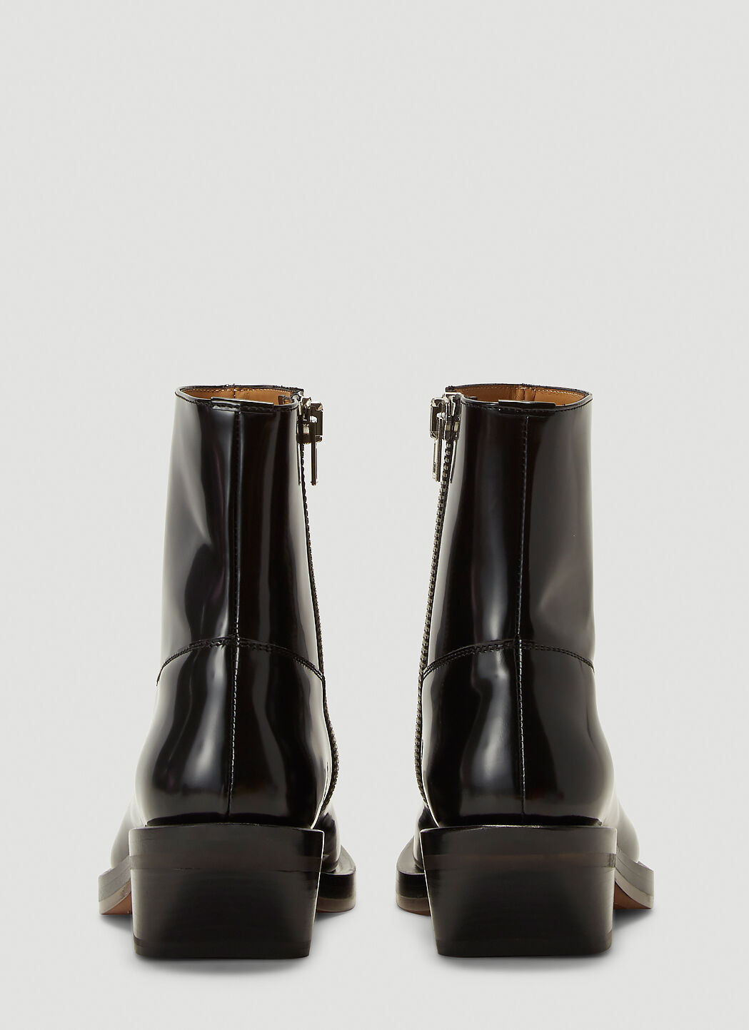 Ion Squared Toe Cowboy Boots in Black