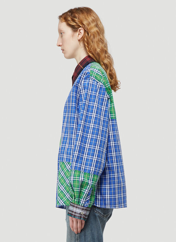 (Di)vision Deadstock Checked Patchwork Shirt 3