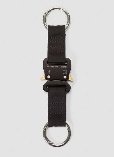 1017 ALYX 9SM Buckle-Fastened Key Ring in Black