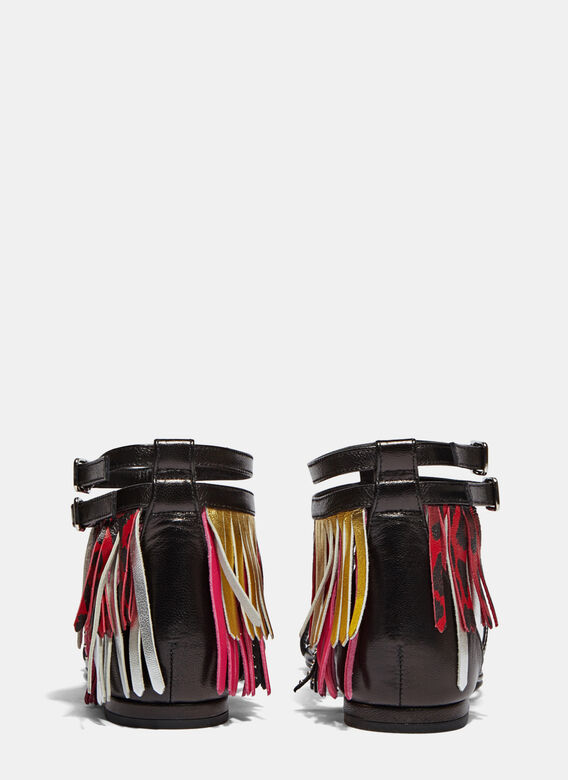 Saint Laurent Fringed Strap Sandals