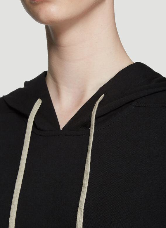 Rick Owens Hooded Long Sleeve T-Shirt