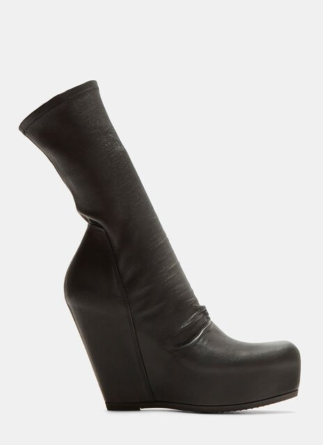 Rick Owens Sock Wedge Boots