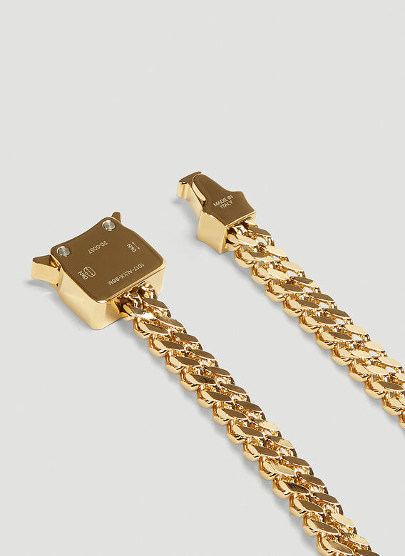 1017 ALYX 9SM CUBIX CHAIN NECKLACE W/ FIXED BUCKLE 3