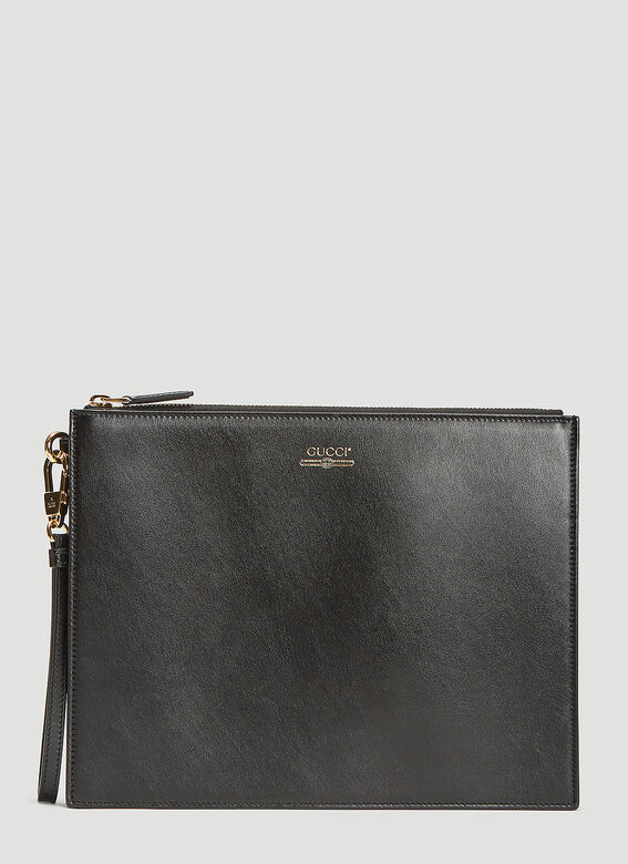 Gucci Leather Logo Pouch