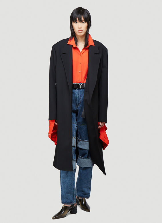 Y/Project CLASSIC TWISTED LAPEL COAT 2
