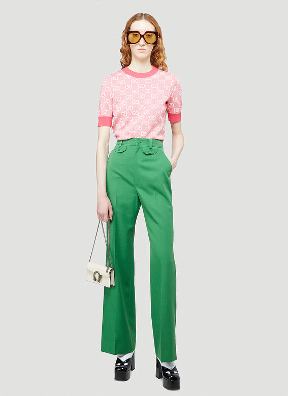 GUCCI Flared pants Flared Pants in Green