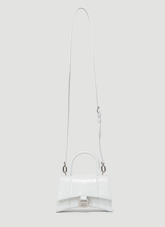 Balenciaga Hourglass Top Handle Extra Small Bag in White