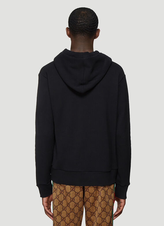 Gucci Gucci Fake Logo Hooded Sweatshirt 4