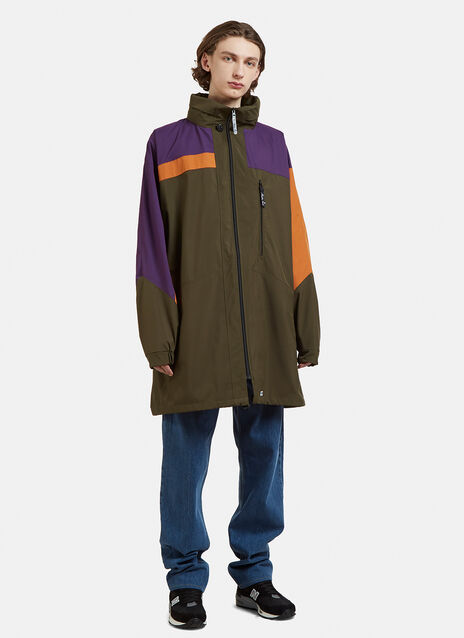Martine Rose Funnel Neck Patchwork Raincoat